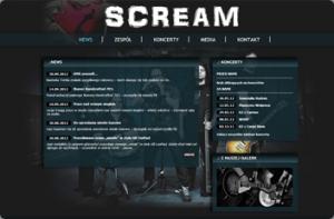 Strona zespołu muzycznego Screem